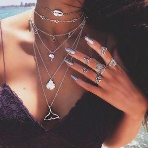 Multilayered boho/gypsy necklace